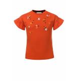 Looxs Revolution T-shirt met poplin ruffle voor meisjes in de kleur