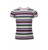 Looxs Revolution Pointel t-shirt multicolor voor meisjes in de kleur