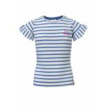 Looxs Revolution T-shirt met licht blauw streepje voor meisjes in de kleur