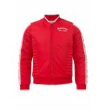 Looxs Revolution Rood satin bomber jasje voor meisjes in de kleur