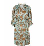 Mos Mosh Renate stencil jurk 526 blauw