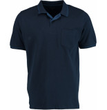 Attention Shirt uni piqu 271000623/602 blauw