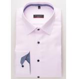 Eterna Overhemd ruit details twill classic kent ml7 modern fit roze