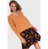 Alix 201838455 ladies knitted v-neck pullover oranje