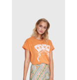 Alix 201836447 ladies knitted vintage playing cards t-shirt.