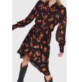 Alix 201340445 ladies woven flowers chiffon dress