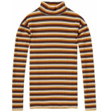 Scotch & Soda 148539 18 high neck long sleeve striped tee combo b