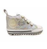 Shoesme Veterschoenen flex baby proof zilver