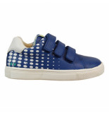 Bunnies Jr. Laurens louw jongens sneakers blauw