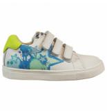 Bunnies Jr. Laurens louw jongens sneakers wit