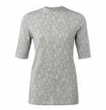 YAYA 1919129-012 high neck t-shirt with snake print