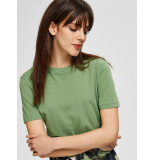 Selected Femme 16048004 slfmy perfect ss tee box cut color groen