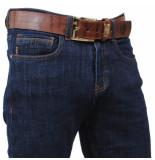 Cobbelti Heren jeans met gratis riem stretch lengte 36 dark blauw