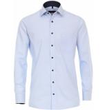 Casamoda Overhemd licht strepen navy details kent comfort fit
