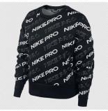 Nike Pro womens fleece crew cj3588-010 zwart