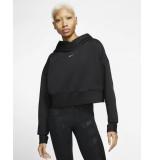 Nike Pro womens fleece hoodie cj3591-010 zwart