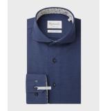 Michaelis Navy birdseye overhemd (extra lange mouwen)