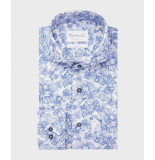 Michaelis Wit en bloemenprint shirt