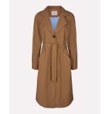 MOSS COPENHAGEN 14855 angela trench coat bruin