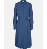 MOSS COPENHAGEN 14854 caddy beach ls shirt dress blauw