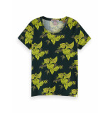 Scotch & Soda 156226 0218 printed regular fit tee combo b groen