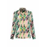 POM Amsterdam Flower play blouse groen