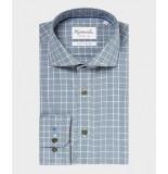 Michaelis Heren overhemd geruit oxford cutaway non iron slim fit
