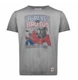 BoB T-shirt print popeye pop6 piombo grijs