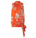 Ana Alcazar Top & broek oranje met bloemen