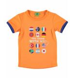 Funky XS T-shirt flag tee oranje