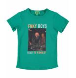 Funky XS T-shirt monkey tee groen