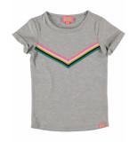 Funky XS T-shirt rainbow tee grijs