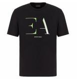 Emporio Armani Logo t-shirt zwart roze