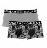 Muchachomalo Ladies 2-pack short casino royale grijs