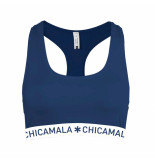Muchachomalo Ladies 1-pack racer back solid blauw