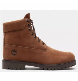 Timberland Men 6 inch prem rubber cup boot light brown nubuck bruin