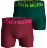 Bjorn Borg 2-pack boxers neon solids red/green
