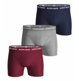 Bjorn Borg 3-pack boxers solids navy/red/grey
