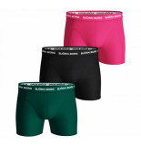 Bjorn Borg 3-pack boxers solids green/black/pink