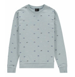 Kultivate Sweater 2001011002 sw cruiser 432 winter sky - blauw