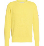 Calvin Klein Sweater j30j314927 overdyed sweater zhn solar yellow - geel