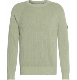 Calvin Klein Sweat j30j314927 overdyed sweater l9 earth sage - groen