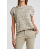 YAYA 1901241-012 modal t-shirt with rounded hems and snake print