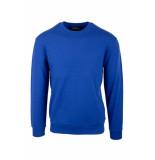 Emporio Armani Logo sweater kobalt blauw