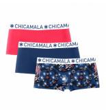 Muchachomalo Ladies 3-pack short flower power