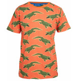 Someone T-shirt croco oranje