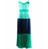 Twin-set Lange jurk groen met blauw