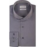Thomas Maine Heren overhemd bari strepen twill two-ply tailored fit blauw