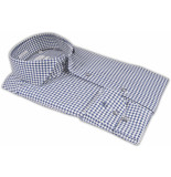 Thomas Maine Bari pied de poule effect twill two-ply tailored fit blauw