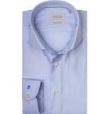 Thomas Maine Heren overhemd bari licht two-ply oxford tailored fit blauw